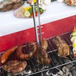 Cooking on the barbecue grill — 图库照片