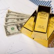 Stock Photo: Gold and money