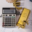 Stock Photo: Office Concept, Gold bar
