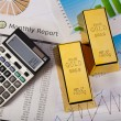 Office Concept, Gold bar — Stock Photo