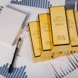 Stack of gold bar — Stock Photo #11296613
