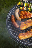 Cooking on the barbecue grill — Foto Stock