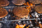 Steak, Grilling at summer weekend — Stock Photo