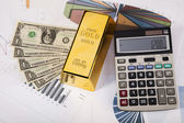 Finance Concept, Gold bar — Stock Photo