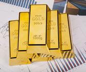 Office Concept, Gold bar — Stock Photo