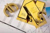 Finance Concept, Gold bar — Stock Photo