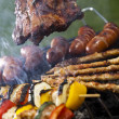 un estate calda serata, grigliare barbecue — Foto Stock #11375364