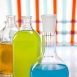Chemistry equipment, laboratory glassware — Stock Photo #11378827