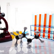 Assorted laboratory glassware , experiment - Stock Photo