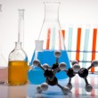 Stock Photo: Chemical laboratory, glassware equipment