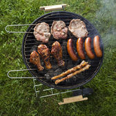 Grill background — Stock Photo