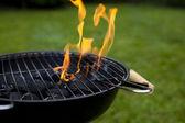 Ogień, gorący grilla — Zdjęcie stockowe