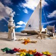 Summer Beach Background — Stockfoto