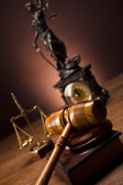 Law and justice concept, wooden gavel — Stock Photo