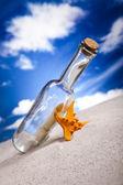 Message in a bottle, help — Stock Photo