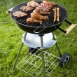 Barbecue a hot summer evening, Grilling — Stockfoto