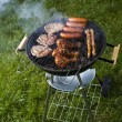 Foto Stock: Barbecue hot summer evening, Grilling