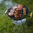 Stock Photo: Barbecue hot summer evening, Grilling