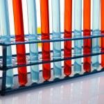 Chemical laboratory, glassware equipment — Stock Photo