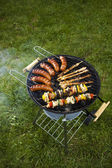 Cooking on the barbecue grill — Stock Photo
