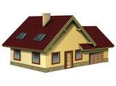 дом изолирован — Cтоковый вектор