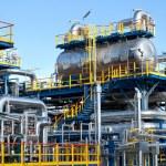 instalación de equipos de la industria de aceite — Foto de Stock