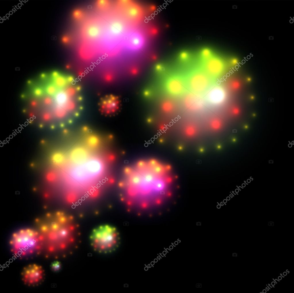 Abstract background colorful glittering star of light, vector. — Stock Vector #11524707