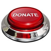 Donate button — Stock Vector