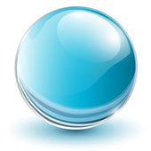 3D glass sphere — Stock Vector