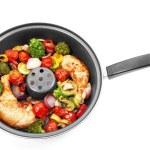 Rostad kyckling med grönsaker — Stockfoto