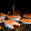 Grilled salmon — Stock Photo #10941521