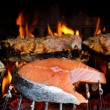 Grilled salmon - Stock Photo