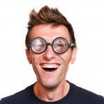 Funny nerd — Stock Photo