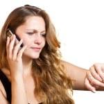 Girl talking on her mobile phone — Stock Photo #11036984