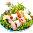Fish skewers — Stock Photo #11963212
