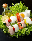 Fish skewers — Stock Photo