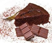Dark chocolate cake — Stock Photo