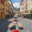 Street of aosta — Stock Photo