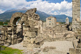 Roman theater in Aosta — Stock Photo