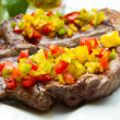 Grilled Steak Meat — Stock Photo