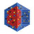 Stock Photo: Nano particles in hexagonal cross section