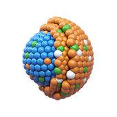 Nano deeltjes dwarsdoorsnede — Stockfoto