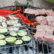 Royalty-Free Stock Photo: Food on the grill for a barbeque