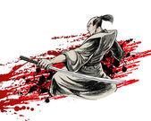 Wojownik japonii — Zdjęcie stockowe