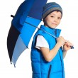 Boy with umbrella — Stock Photo