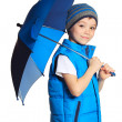 图库照片: Boy with umbrella
