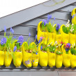 Holland traditional yellow wooden shoes — Stock Photo