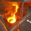 Pouring molten steel — Stock Photo