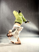 Break Dance on the floor — Stock Photo