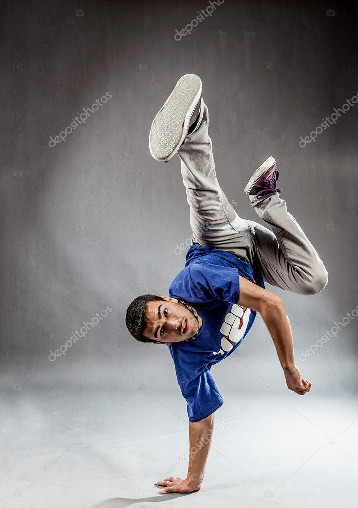 Poht of acrobatic movements performed by dancers  Stock Photo #10871311